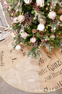 burlap skirt and ornaments