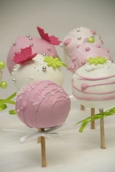 cupcakesandhappiness pastel cake, creativ cakepop, pastels, galleries, cake ball, pink cakes, cake pops, cakepop inspir, cupcakescak pop