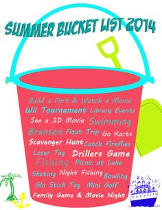 Summer Bucket List 2014 #summer #fun #free #printable