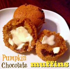 Pumpkin Chocolate Muffins (Egg-Less!) | The Food Hussy