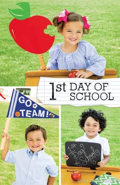 Memorialize your kiddo's first day back to school with chalkboard signs and cheerful cut-outs! You'll love these photo props for years to come. homeschool remedi, chalkboard sign, school dayz, back to school