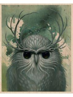 block prints, owl art, snow, art prints, wood blocks
