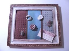 Memo Board or Jewelry Holder  Shabby Chic by PillowtasticPlus, $20.00