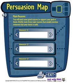 webquests for persuasive essay