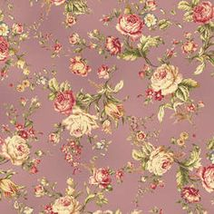 Amelia  Cotton Fabric Quilt Gate MR2170-15D Purple  Rose by agardenofroses on Etsy