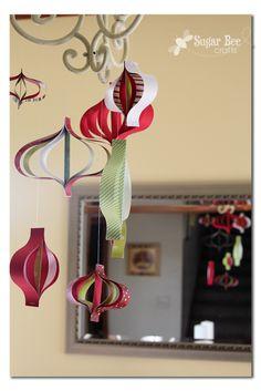 Paper Strip Ornament Mobile