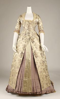 American silk dress 1878-80