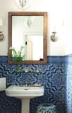 Blue Tiles. Classic Bathroom