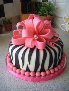Zebra and Pink Cake #Zebra