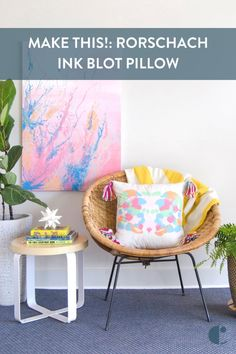 Ink blot pillows DIY