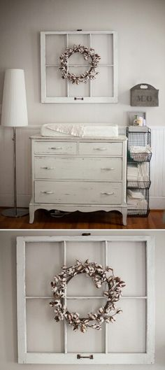 White nursery - I have an old window like this!
