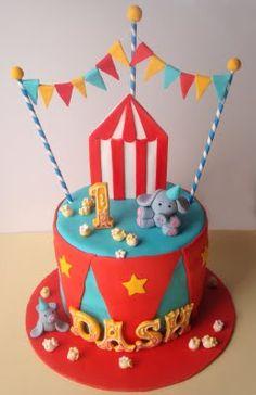carnival cakes, googl search, circus cakes, carnivals, 1st birthday, parti idea, carniv cake, circus theme birthday cake, birthday cakes