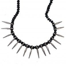 Black Spinel Spike Necklace available now on Fragments.com