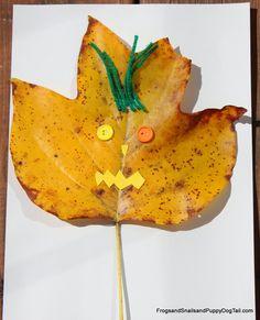 Leaf Monster Art for Kids by FSPDT