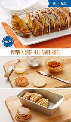 Would fall really be complete without a little Pumpkin Spice? Warm up on a cool fall morning with this pull-apart bread!