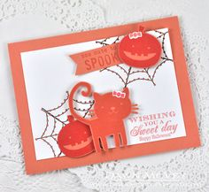 Too Cute To Spook Card by Dawn McVey for Papertrey Ink (August 2014)