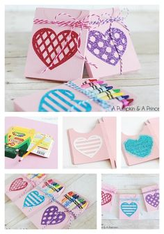 Crayon Heart Boxes | 40 DIY Valentine's Day Gifts They'll Actually Want