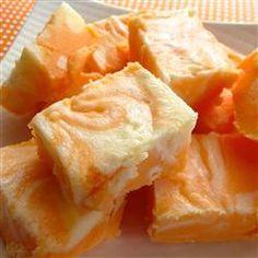 Orange Cream Fudge tastes like a creamsicle.    Allrecipes.com