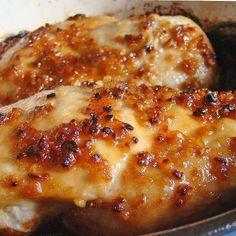 Garlic, Brown Sugar, Cheese Baked Chicken Recipe