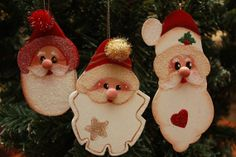 3 Handmade Tole Painted Christmas Ornaments  Holiday by PaperMeUp, $13.00