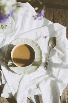 Morning coffee & flowers