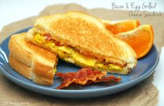 Bacon & Egg Grilled Cheese Sandwich