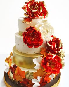 Autumn Tiered Cake w