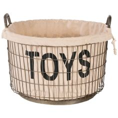 { Aidan Gray Decor Wire Toys, Stuff and Etc Basket Set with Linen }
