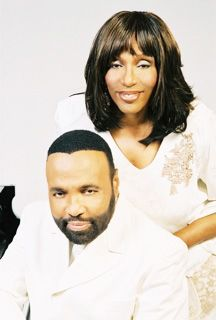 Gospel recording artists twins, Andre and Sandra Crouch.
