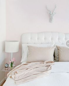 beautiful bedroom {pale pink & white}