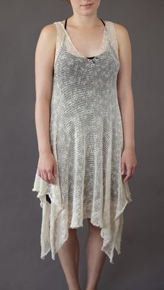 Sheer knitted dress  Unique design  Lightweight by GalaKardi, $196.00