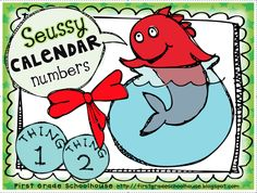 Seussy Calendar Numbers with an AABC pattern. Have fun with these. Pick them up at First Grade Schoolhouse. @Aly Bellamy