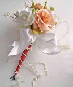 Handmade Paper  Roses Mini Nosegay Bouquet by wildabouthandmades, $28.00