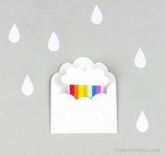 Printable Party Invitations | Rainbow Party | Mr Printables