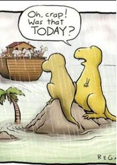 So that's what happened to the dinosaurs