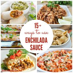 15+ Ways To Use Enchilada Sauce - whether homemade or canned, there is so many ways to use enchilada sauce for a delicious dinner!