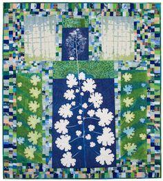 Plume Poppy Art Quilt!  Sue Reno...