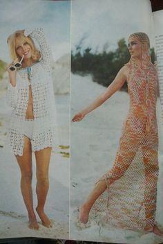 1970s #crochet on the beach