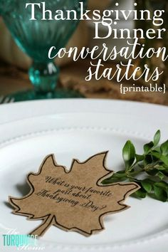 This is such a simple thing to add to your Thanksgiving dinner, but I think it will be one of the most meaningful. I will be using these conversation starters with my family for the first time this year and I hope it will be a great way to get some good conversations going. Maybe ???