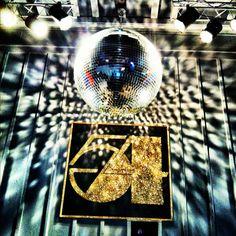 Studio 54 theme at a bar in Atlanta