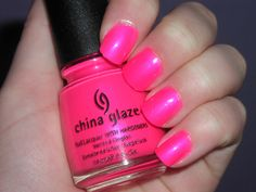 China Glaze Pink Voltage Neon. good quality, pretty color.