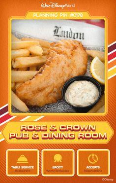 Walt Disney World Planning Pins: Rose & Crown Pub & Dining Room