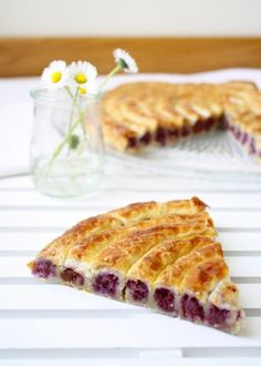 Cabbage filled puff pastry spiral