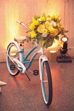 Cute bike with flowers