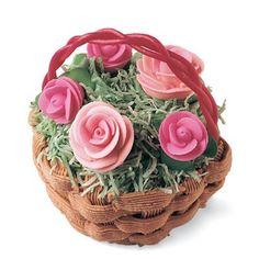 Rose Basket Cupcakes