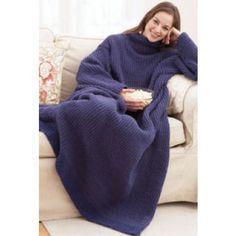 Mary Maxim - Free Adult Wrap-ghan Knit Pattern - Free Patterns - Patterns & Books