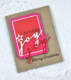 Christmas Joy Card by Dawn McVey for Papertrey Ink (September 2014)