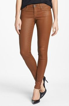 AG 'The Absolute Legging' Coated Skinny Jeans (Bear Bee) available at #Nordstrom