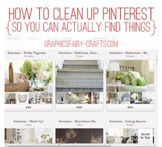 OK, so you've been Spring Cleaning your home, now how about your Pinterest abode?  Here are some great, easy and ohhh so useful Tips from The Graphics Fairy (who really is an Angel) ;)