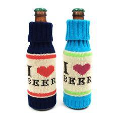 I Love Beer Bottle Covers. The best #beer #gadget ever.